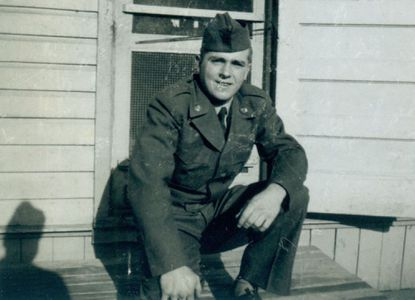 The author's uncle, Edgar Glenn Copeland, shown during his Army service in the early 1950s, loved sports, particularly baseball, and taught his nephew how to play and appreciate the game.