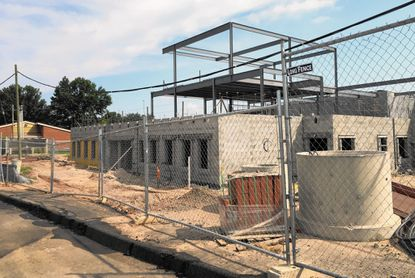 Youth's Benefit Elementary in Fallston, above, where a replacement building is under construction, is one of the few of 54 public schools in Harford County that has more students than seats. With a faltering economy and declining enrollment, many buildings are underused.