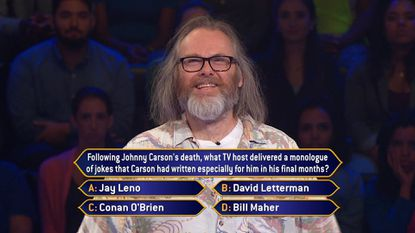 Mr. Wrong is going to be on the new 'Who Wants to Be a Millionaire' today. No, really