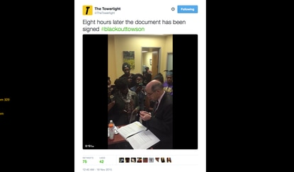 Know your sources: Towson University student editor reflects on campus sit-in