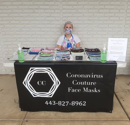 Recent River Hill graduate Emma Golus, of Clarksville, saw an opportunity to make face coverings fashionable as well as functional. She started Coronavirus Couture to provide reusable cotton masks for the community.