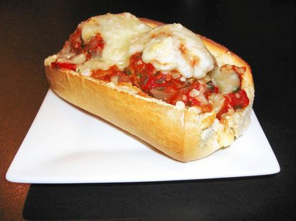 Tailgating recipe: Meatball subs.