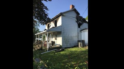 Carroll County Sheriff's Office and the Office of the State Fire Marshal and investigating the cause of a one-alarm fire that killed one woman in the 2000 block of Old Westminster Pike in Finksburg on Tuesday night, May 22, 2018.
