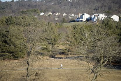 Walking paths crisscross the landscape at Wakefield Valley Park, a former golf course, in Westminster Thursday, Jan. 28, 2021.