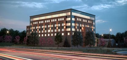 A rendering of the 350 Kenwood office building, located between Kenwood Avenue and I-695 in Catonsville.