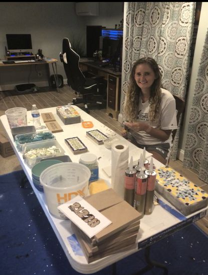 Catonsville High two-sport athlete Hayden Kesner stays busy with all her crafts at home.