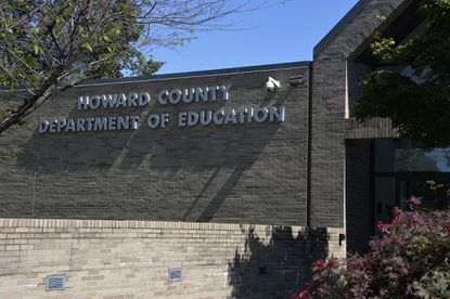The Howard County Public School headquarters at 10910 Clarksville Pike, Ellicott City, Maryland.
