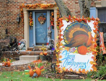 A home in the 1200 block of Jenny Road in Bel Air is decorated for Thanksgiving.