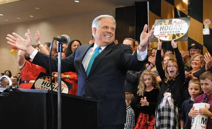 Maryland Governor-elect Larry Hogan gives his victory speech.