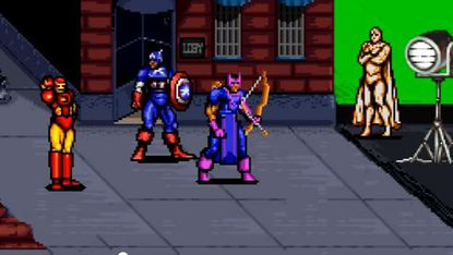 """Poor Vision (far right) was cut out of """"The Avengers"""" script due to """"creative differences"""" witnessed in our excellent video pick of the week."""