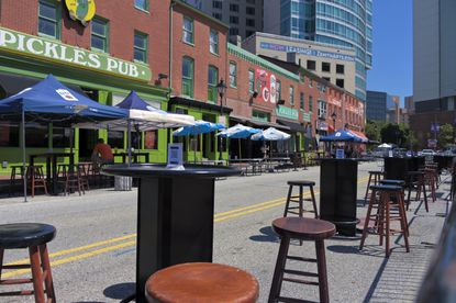 If you're squeamish about sitting in the stands at Camden Yards, grab an outdoor table at the pub across the street and give a listen. The atmosphere will chase those blues. 520 Washington Blvd. 410-752-1784. picklespub.com.