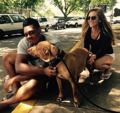 """Ravens player Ronnie Stanley adopted a six-year-old retreiver and terrier mix named Winter from the BARCS on Saturday. According to the shelter staff, Stanley was looking for a """"not-so-adoptable"""" dog."""