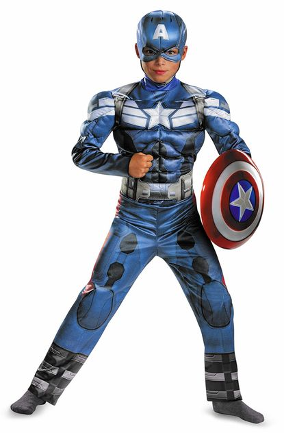 Captain America deluxe child costume, $24.99, and child's shield, $19.99, both at Chicago Costume Company and chicagocostume.com. (Chicago Costume Company/Chicago Tribune/MCT) ** OUTS - ELSENT, FPG, TCN - OUTS **
