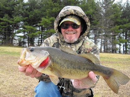 With air temperature at 32 degrees and water at 40, I still managed to coax a few late winter bass to strike a lipless crankbait in less than favorable conditions.