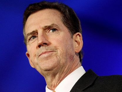 FILE - In this June 17, 2011 file photo, Sen. Jim DeMint, R-S.C. speaks in New Orleans. DeMint announced Thursday, Dec. 6, 2012 that he is resigning to take over at Heritage Foundation. (AP Photo/Patrick Semansky, File)