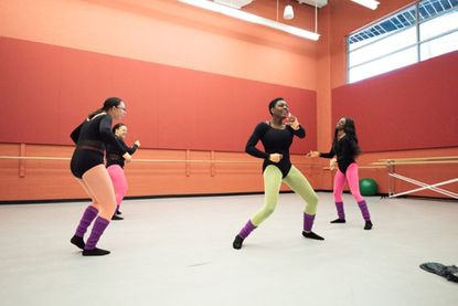 Niaya Koryne is front and center in Jasmine Glaze's bubbly dance for Howard Community College's Fall Dance Showcase.