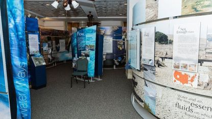 The Water/Ways exhibit is shown in the Baltimore County Historical Society.