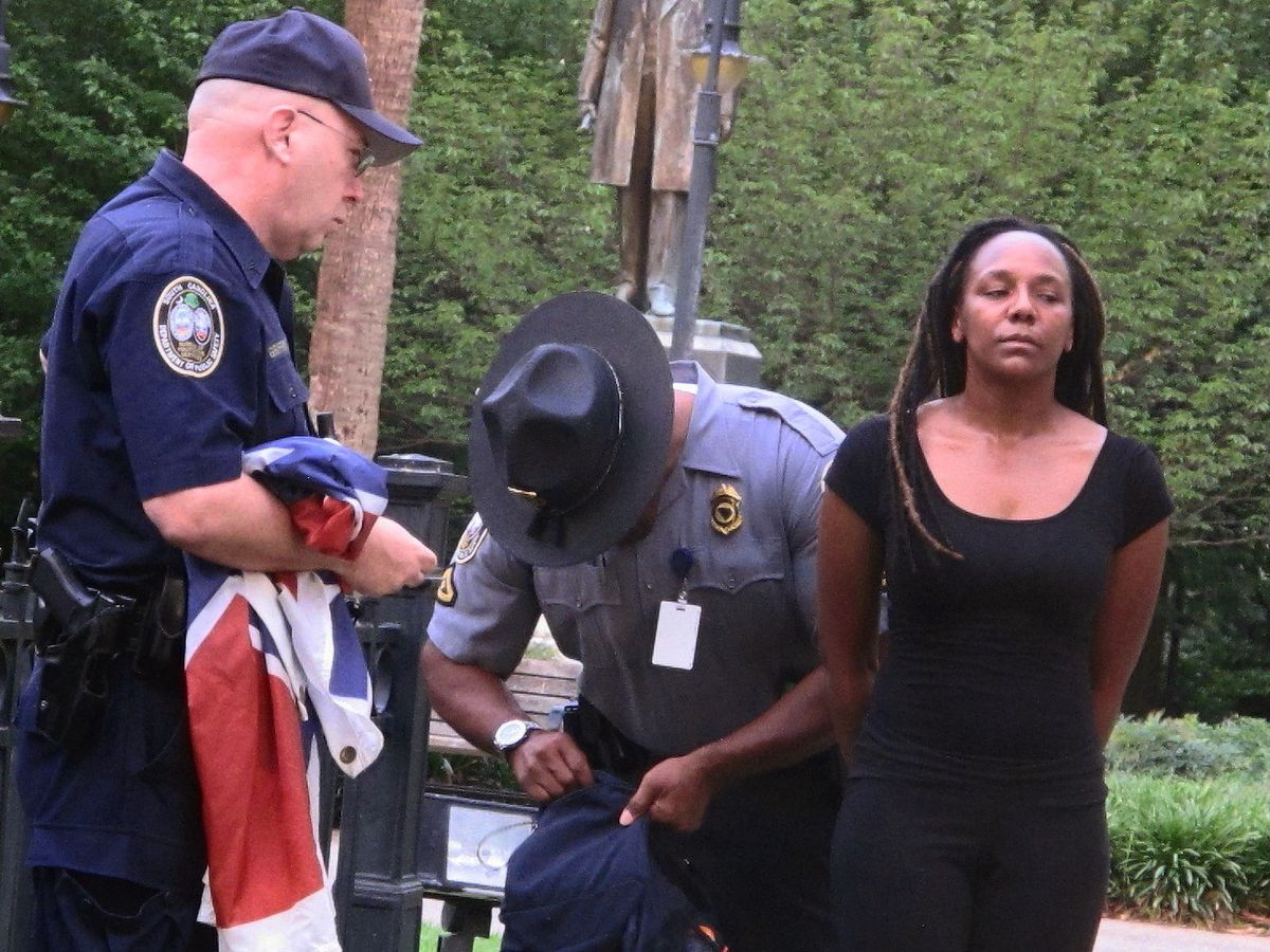 fashion style save off best place Bree Newsome, who removed Confederate flag, known as ...