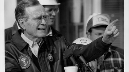 President George H.W. Bush visited Riverside in 1992 to boost nation's home-building industry