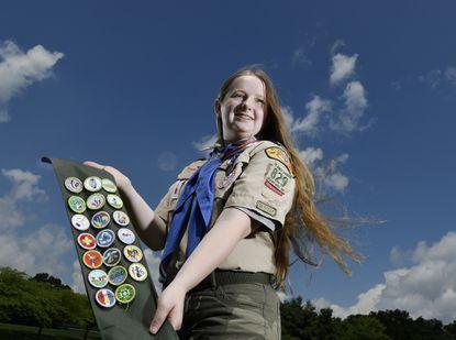 Kayla Kelly, 18, of Finksburg, is Carroll County's first female Eagle Scout.