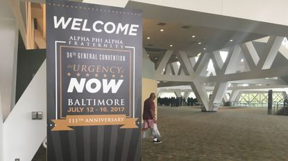 About 4,000 members of the Alpha Phi Alpha fraternity, the nation's first black, Greek-letter organization, are meeting this weekend in Baltimore.