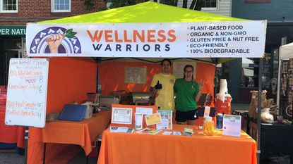 Jarett and Vanessa Peltzer, pictured at last year's Flower and Jazz Festival, started their pop-up plant-based food service, Wellness Warriors, on Mother's Day last year.