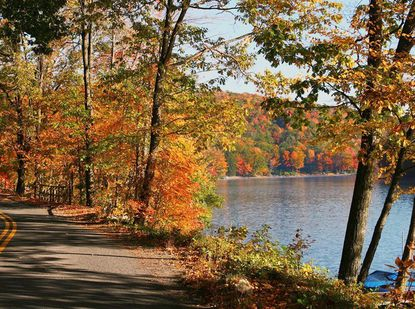 Fall foliage in Garrett County, where the annual Autumn Glory Festival begins in October.