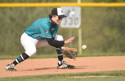 Patterson Mill second baseman Ethan Shertzer had three hits Wednesday in the Huskies division-clinching win over Bel Air.