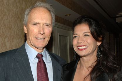 Clint and Dina Eastwood together in 2007. Dina filed for divorce Tuesday.