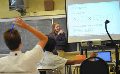 A 10th grade Probability and Statistics class taught by math teacher, Troy Mabry at Baltimore Polytechnic Institute.