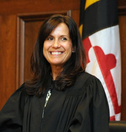 Judge Yolanda Curtinis presiding over the murder trial of Ricardo Muscolino in Harford County this week.