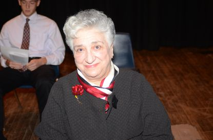 Dr. Rose Mary Hatem Bonsack smiles prior to her induction into the Havre de Grace High School of Fame. Bonsack died on Sunday. She was 86.