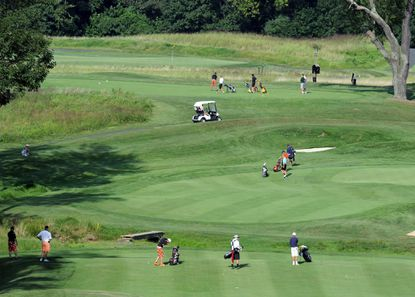 Golfers make their way through the course in 2013 at Bulle Rock Golf Course in Havre de Grace.