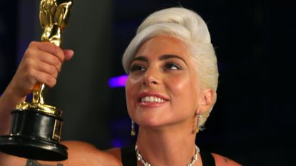 "Lady Gaga, a Best Original Song winner for ""Shallow"" from ""A Star is Born,"" attends the Vanity Fair Oscar Party early Monday morning after the 91st Academy Awards. Many years earlier, she attended the Johns Hopkins Center for Talented Youth."