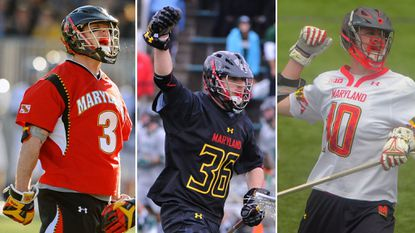 From left, Jake, Jesse and Jared Bernhardt. Jared Bernhardt is currently on the Maryland men's lacrosse team while Jesse and Jake are former Terps.