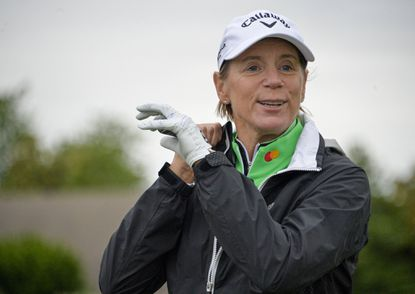 Former No.1 LPGA golfer Annika Sorenstam lead a golf clinic at Hillendale Country Club in Phoenix, Maryland on Monday, May 24, 2021. She worked with the youth on how to change the trajectory of their golf shot.