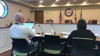 The Carroll County commissioners hear a presentation on the recommended fiscal year 2020 budget.