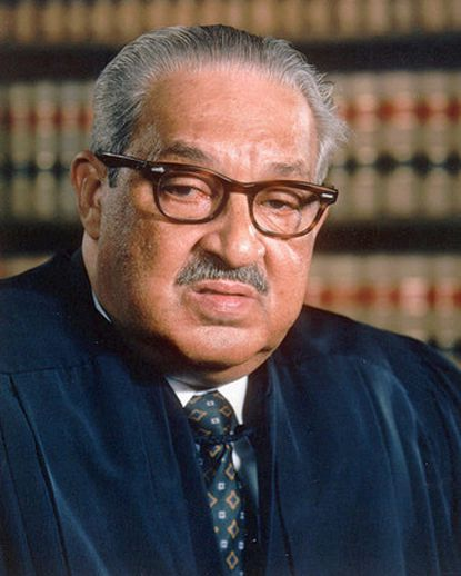 U.S. Supreme Court Justice Thurgood Marshall in 1989.