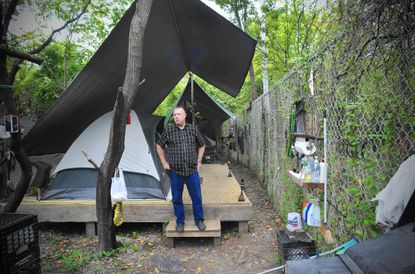 A survivor: At Jim Petway's camp, paying dues and hoping for permanence