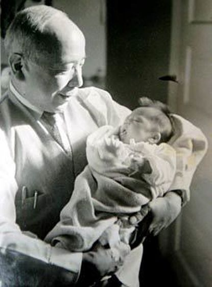 Jack Yasutake, who came to America in 1907, with granddaughter Jeni Yamada, born in 1951.