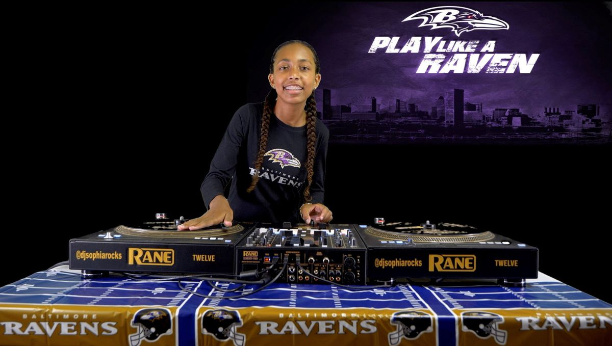 Meet DJ Sophia. She's 12 and one day wants to be the official DJ for the Baltimore Ravens.