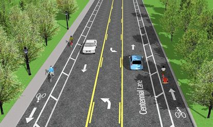 Proposed new Centennial Lane redesign.