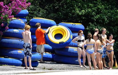 Tube rentals are available at Monkton Bike Shop for cool fun on the Gunpowder River