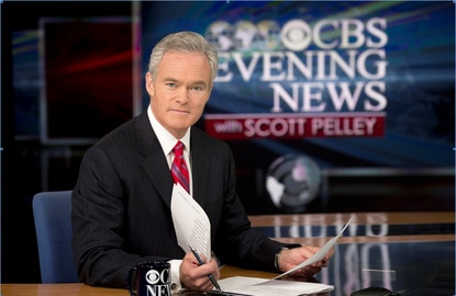 """Scott Pelley in two years as anchor of """"CBS Evening News,"""" the telecast has added 720,000 viewers."""