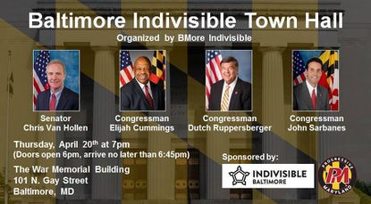Thursday: Baltimore Indivisible Town Hall
