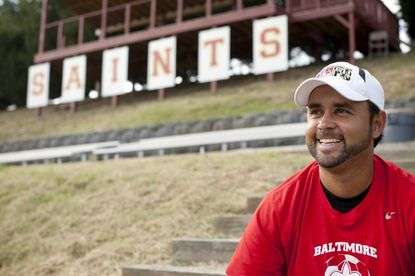 Concordia Prep first-year boys soccer coach Adauto Neto is stressing to the Saints the many things he has learned in his six seasons with the Baltimore Blast.