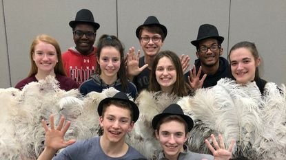 """Performers in Glenelg High School's """"Chicago the Musical."""""""