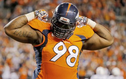 Terrance Knighton would add size and leadership to a Ravens defensive line that has lost Haloti Ngata and Chris Canty this offseason.