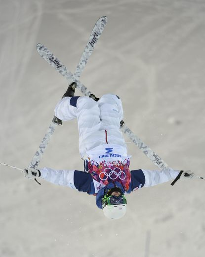 Patrick Deneen during practice session off second jump at Extreme Park. (Jack Gruber/USA TODAY Sports Photo)