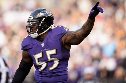 Ravens linebacker Terrell Suggs returned to practice despite a foot injury.